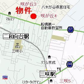 【地図】クレール咲が丘