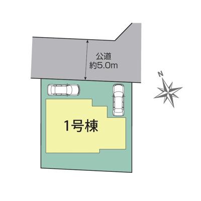 【区画図】BLOOMING GARDEN 1号棟【仲介手数料無料!】