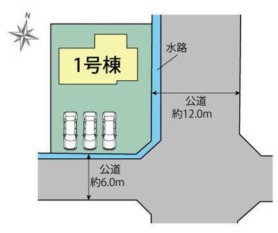 【区画図】新築戸建 北区大池見山台