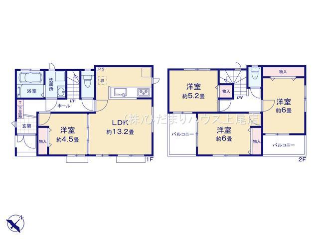 【区画図】北区本郷町 1期 新築一戸建て B