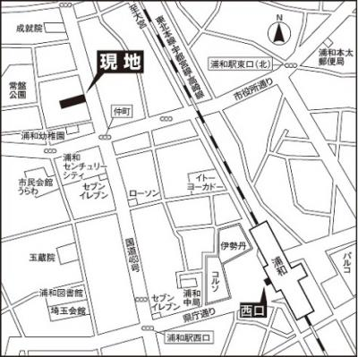 【地図】スターフィールド浦和常盤