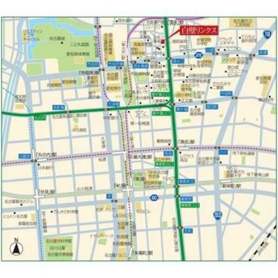 【地図】白壁リンクス