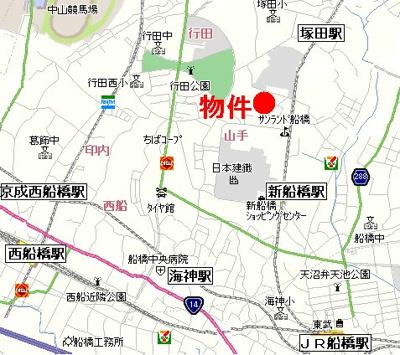 【地図】ジュネス山手