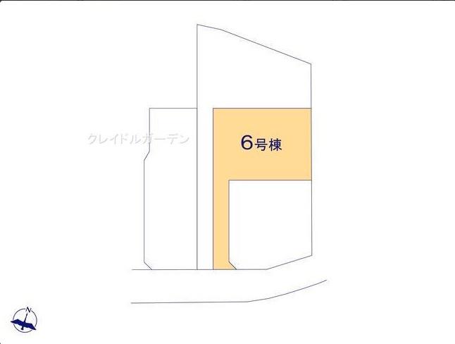 【区画図】堀町新築戸建 第10 6号棟