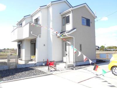 91坪・駐車場4台並列・南向き・4LDKとワイドバルコニー・大越小・加須北中・デザインリフォーム住宅・すぐ住めます