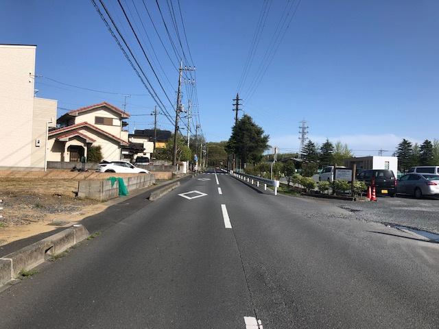 【前面道路含む現地写真】足崎土地