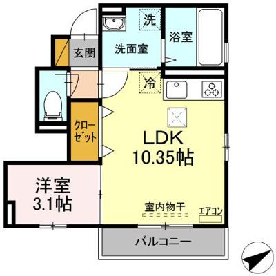 【区画図】仮称D-roomあすみが丘東1丁目