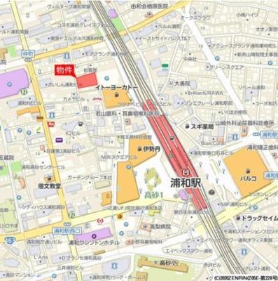 【地図】Brillia浦和仲町