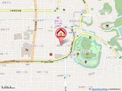 【地図】リバーサ道後桜館