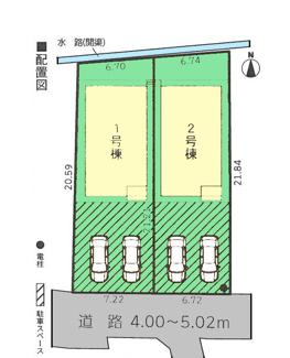 【区画図】三島市谷田第7 新築戸建 全3棟 (2号棟)
