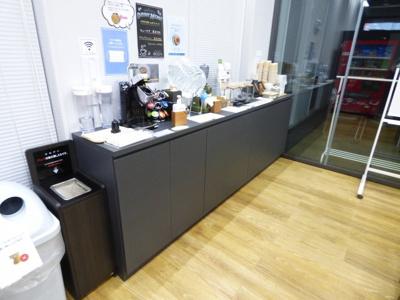 ドリップコーヒー220円 キューリング100円
