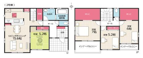 キッチンパントリー、WICが2つあり全居室収納スペース充実しています。