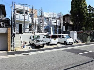 【前面道路含む現地写真】神戸市垂水区本多聞6丁目 B号地 新築戸建