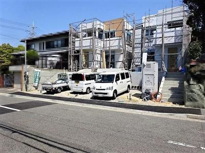 【前面道路含む現地写真】神戸市垂水区本多聞6丁目 A号地 新築戸建