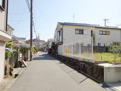 【前面道路含む現地写真】岸和田市小松里町 売土地