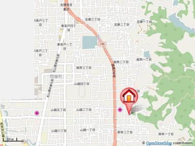 【地図】パンシオン山越NO.1・