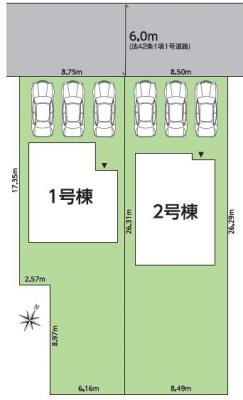【区画図】常磐関船町 全2棟
