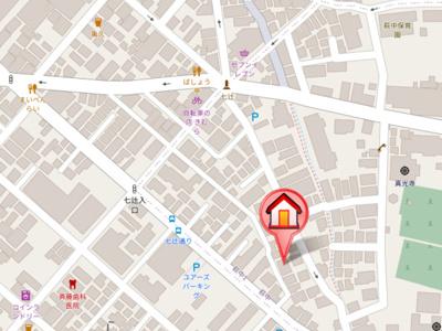 【地図】シティハイムクラハシⅡ