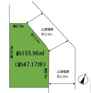 【区画図】宮塚町 売土地