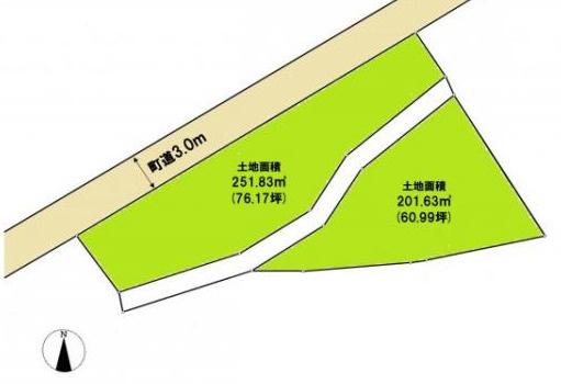 【土地図】河口湖まで徒歩3分!! 富士河口湖町長浜 137坪