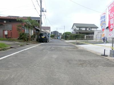 【前面道路含む現地写真】龍ケ崎市20-1期
