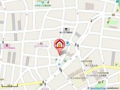 【地図】メゾネットミヤ