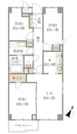ルーエ成増:南東向き角部屋につき日照・通風良好な3LDK新規リノベーション物件は住宅ローン控除の利用も可能です!