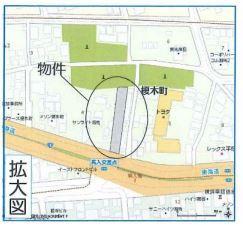 【地図】平塚市榎木町 第一種住居/近隣商業地域 売地