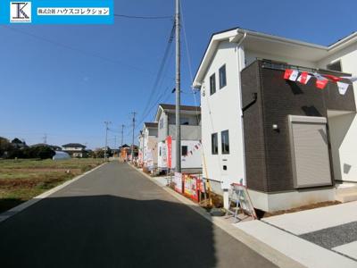 【前面道路含む現地写真】阿見町24期 新築戸建 2号棟