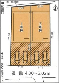 【区画図】三島市谷田第7 新築戸建 1号棟