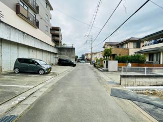 【前面道路含む現地写真】三島市谷田第7 新築戸建 2号棟