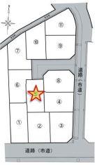 【区画図】八尾市恩智南町1丁目 5号地 新築戸建