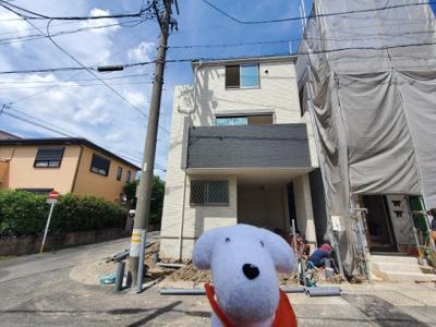 上棟しました。新築一戸建てのことは専門ナビゲーターの神谷にお任せください。7/13撮影