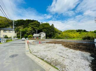 【前面道路含む現地写真】裾野市富沢第2 新築戸建 4号棟