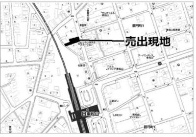 【地図】東松山市箭弓町 商業地域 売地