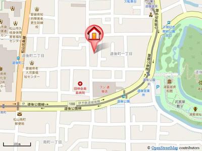 【地図】パークハイツ道後