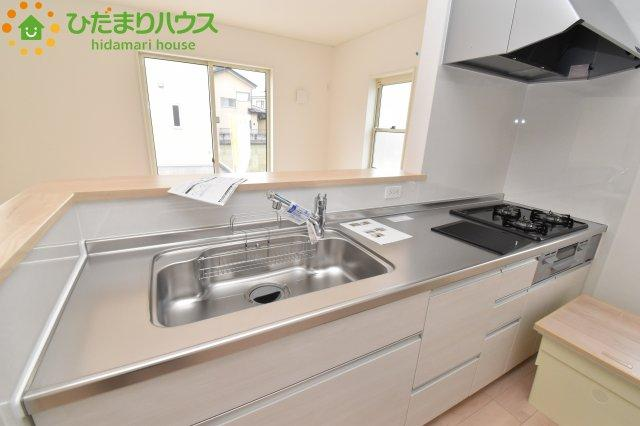 【キッチン】鴻巣市南 第1 新築一戸建て クレイドルガーデン 01
