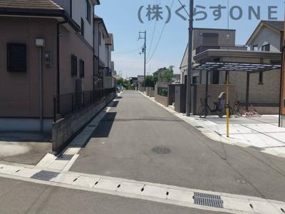 【前面道路含む現地写真】姫路市御立中5丁目Ⅲ期/2区画