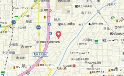 【地図】小栗ハイツ