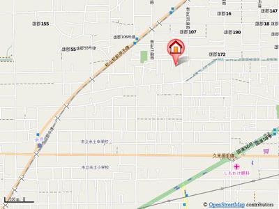 【地図】メゾン余戸東マンション