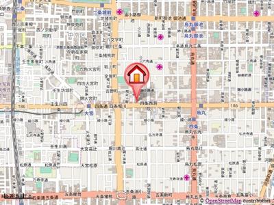 【地図】サンシティ四条西洞院
