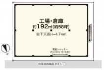 東山田町貸し倉庫58坪の画像