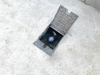 外に散水栓あり