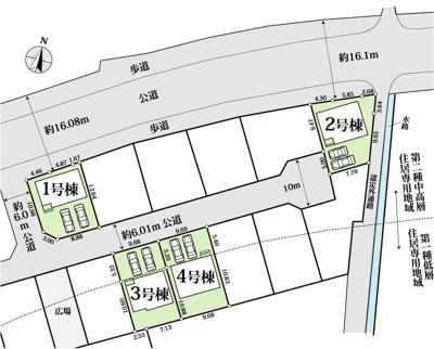 【区画図】香美市土佐山田町4棟