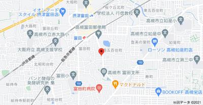 【地図】メゾンドまどころ2 (株)Roots