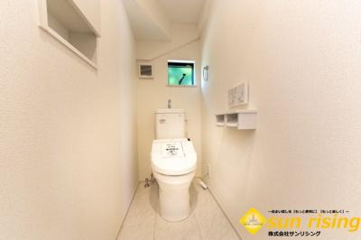 【トイレ】立川市砂川町8丁目 新築戸建 全2棟 1号棟