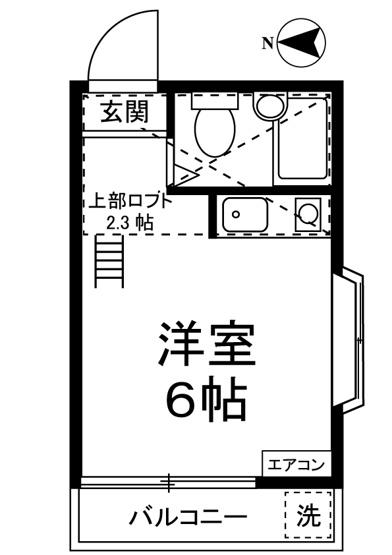 はじめての一人暮らしの方や学生さんにオススメ!ロフト付きワンルームタイプのお部屋です♪なんと言っても最上階・角部屋・二面採光なのが嬉しい♪