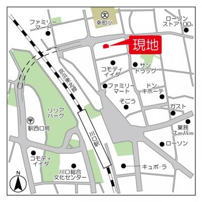 【地図】BPRレジデンス川口