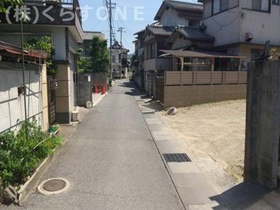 【前面道路含む現地写真】姫路市御立西2丁目/売土地