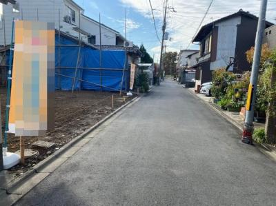 【前面道路含む現地写真】北区大将軍坂田町 建築条件付き 売土地